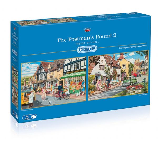 The Postmans Round 2. 2 x 500 piece jigsaws by Gibsons. G5030